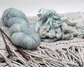 "Yarn Cashmere Mink Emma hand-spun hand-dyed ""Whisper"" with additional free sample miniskeins"