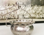 Antique Silver Plated Tea Strainer from The Shelburne Hotel in Atlantic City