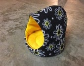 PREMADE Enclosed Fleece Cuddle Cup for Guinea Pig Hedgehog Rat Small Animals