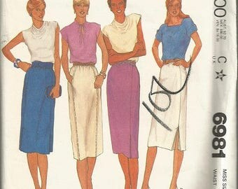 Vintage McCall's Plus Size Skirt Pattern SZ 22
