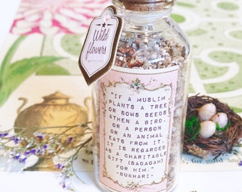 Hadith apothecary jar with wild flower seeds