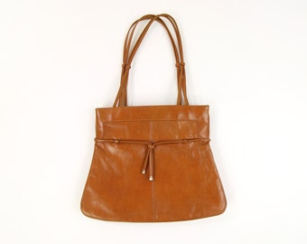 VINTAGE 1970s Purse Leather Shoulder Bag