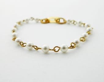 Set of 2 Pearl Bracelets for DIY