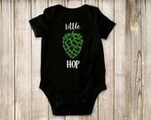 Little hop, black, onesie, baby clothing, brewing, bodysuit, children