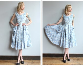 1950s Dress // Empress Novelty Dress // vintage 50s dress