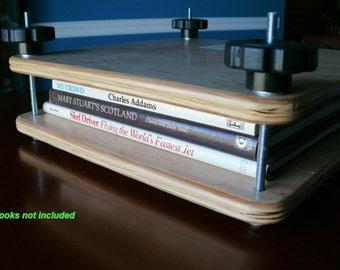"14.5"" x 14.5"" Flat Plate Book Press, Birch / Maple, Finished, Item 211-1"