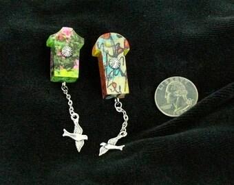 OOAK Birdhouse Magnet Set, Handmade, from Bluebird Creations, Item #2202