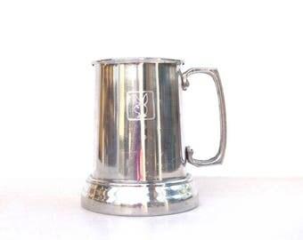 Beer mug Playboy Club stein mug vintage aluminum see through glass bottom tankard Playboy bunny coffee mug gift for man collectible mug