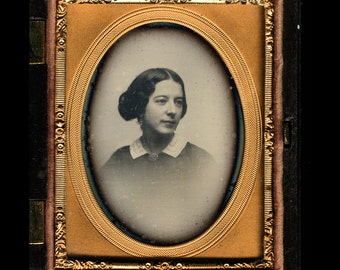 Beautiful Woman by Southworth & Hawes or Whipple - Union Case - Dated 1857