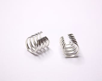 Silver Spiral Ear Cuffs, Sterling Silver Ear Cuffs, Made to Order, Ready to Ship
