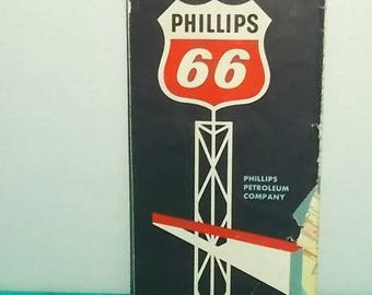 Vintage 1967 Street Map-Austin TEXAS with University of Texas Inset-Vicinity Inset-Phillips 66