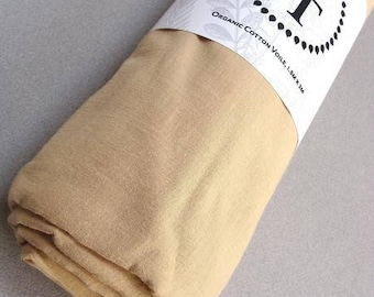 """Naturally Dyed Voile-Sand-63"""" wide"""