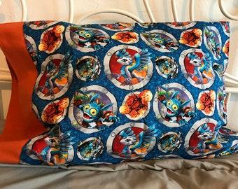 Skylanders travel pillow case/toddler pillow case 100% cotton