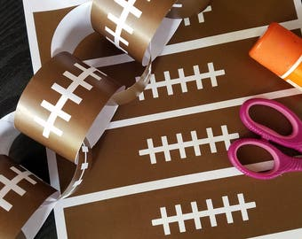 Printable Football Chain Banner on 8x11 300 dpi Sheet