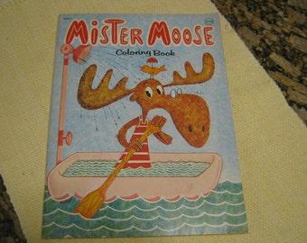 Mister Moose Coloring Book Unused Playmore