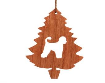 Portuguese Water Dog Ornament, Christmas Tree Dog Decoration, Cão de Água, Algarvian Water Dog, Portuguese Fishing Dog, Cherry