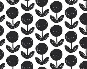 Black and White Flowers faux fur baby blanket, minky baby blanket, gender neutral baby bedding, satin trim blanket