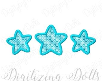 Stars Applique 3 Machine Embroidery Design 4x4 5x5 6x6 5x7 8x8 9x9 6x10 INSTANT DOWNLOAD