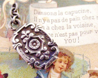 Fabulous French antique hallmarked silver watch fob