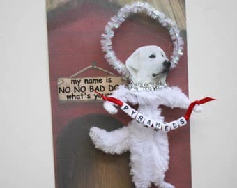 Great Pyranees Personalized Chenille Ornament