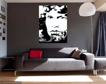 Jim Morrison - GIANT Canvas Print  - 40x40 inches