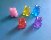 Kawaii gummi bear candy decoden Deco diy charms   5 pcs