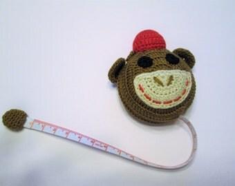 Tape measure, monkey, crocheted