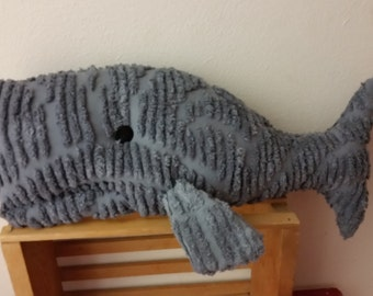whale   handmade vintage chenille bedspread