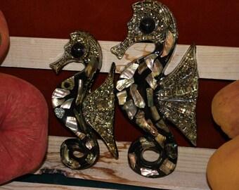 Pair of Lucite Seahorses