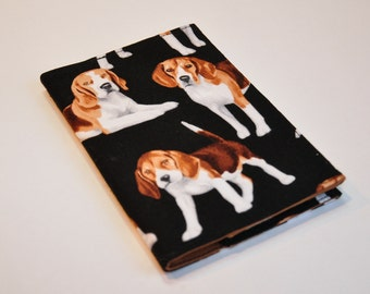 Passport Cover Sleeve Case Holder - Beagle lover - Dog lover - cotton fabric