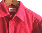 Vintage L.L.Bean Chamois Cloth Shirt Mens Small USA Made