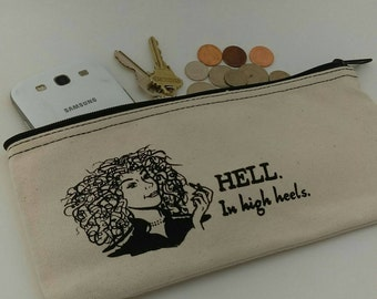 River Song Inspired Cosmetic Case - Zipper Pouch, Clutch Purse