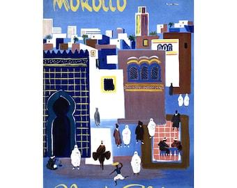 MOROCCO 7S- Handmade Leather Journal / Sketchbook - Travel Art