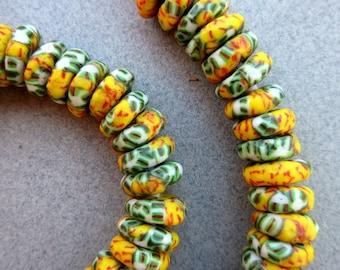 African Krobo Disk Beads
