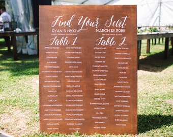 Wedding Reception Seating Sign