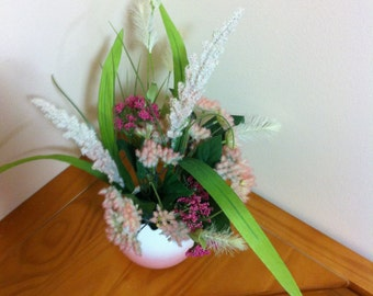 Silk Floral Arrangement/Easter Floral Centerpiece/Artificial Flower Arrangement Decor/Spring Flower Arrangement/Mother's Day Gift