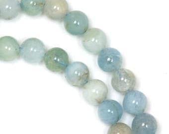 Aquamarine Beads - 6mm Round - Limited Quantity