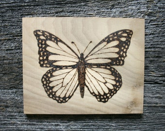 The Monarch Butterfly - Art - Wood burning