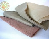 Linen fabric assorted remnants sale! Pure Eco linen flax out cuts for sewing projects; Pastel Zen color sheer silky soft linen fabric mix
