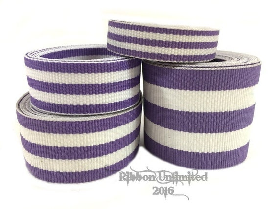 10 Yds WHOLESALE Lavender TAFFY Stripes grosgrain ribbon LOW Shipping Cost