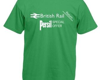 British Rail Persil tickets Football Fans T Shirt