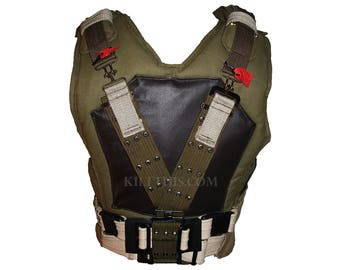 Bane Inspired 10oz Canvas Military Vest with Belt created by Kilt This!