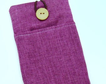6P iPhone 6 plus sleeve, iPhone pouch, Samsung Galaxy S3, S4, Galaxy note, nexus, ipod classic touch sleeve - Purple (246)