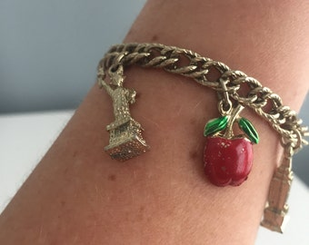 I Love New York Souvenir Charm Bracelet with Twin Towers