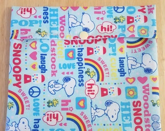 Reusable Sandwich Bag - Snoopy Love - SECONDS!!!