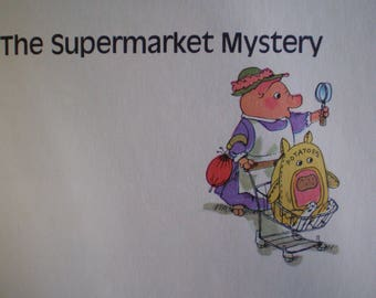 Vintage Mid Century Children's Illustrated Book - Richard Scarry's Great Big Mystery Book