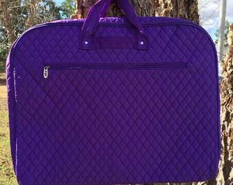 Personalized Girls Dance Bag/Garment Bag-PURPLE Garment Bag, Purple Dance Bag