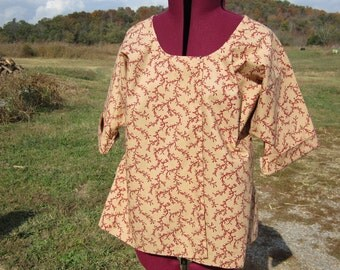 Ladies Shortgown, 38 to 40 bust,  ready to ship, colonial, pirate, renaissance