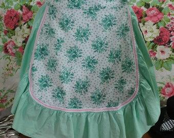 Vintage Jadite Green Half Apron