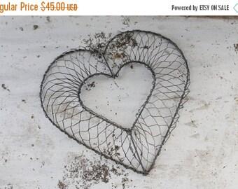 SHOP SALE Vintage Wire Ware Heart
